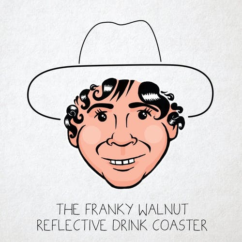 The Franky Walnut Reflective Drink Coaster