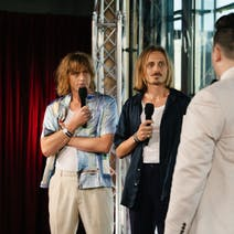 Lime Cordiale and Mitch Churi
